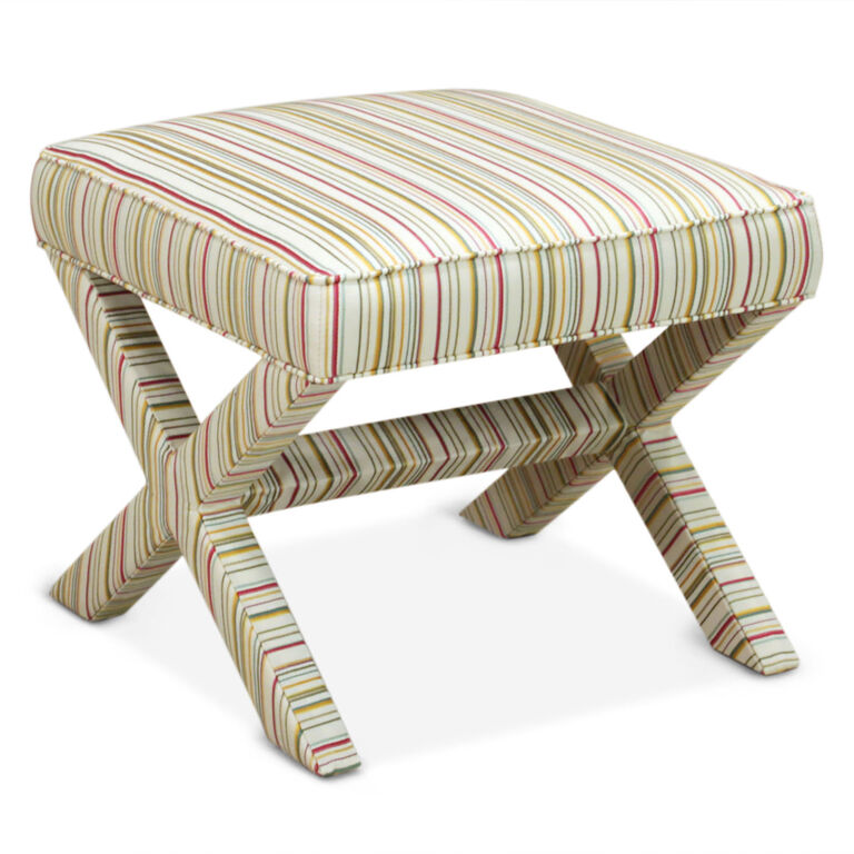 Benches & Ottomans - Saville Ivory X-Bench