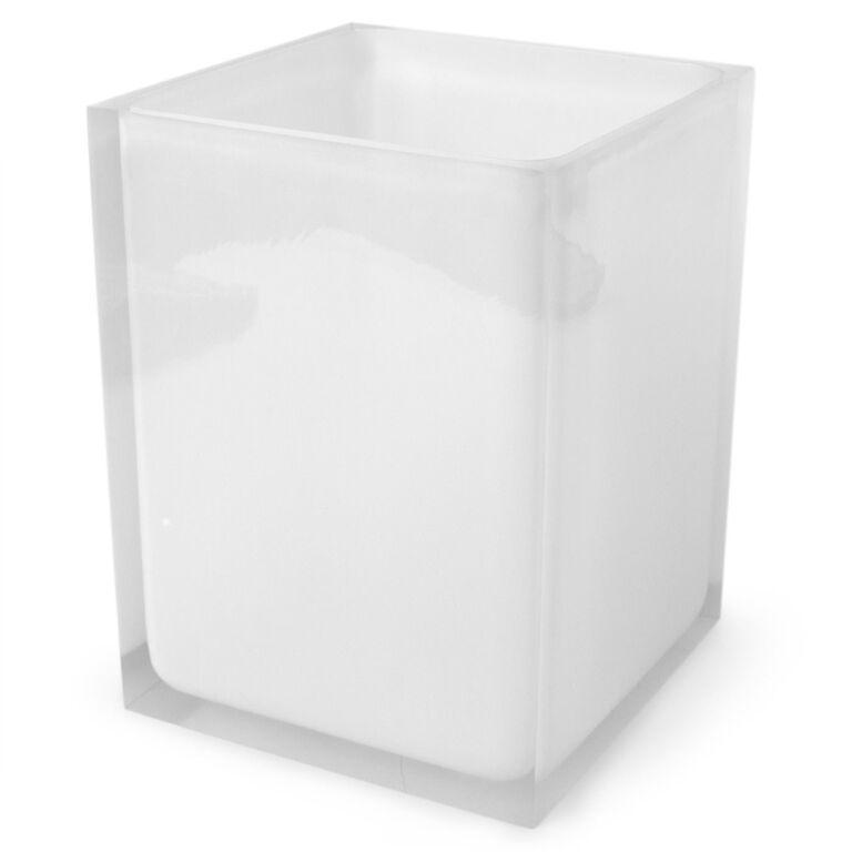 Bath Accessories - White Hollywood Wastebasket