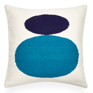 Patterned - Reversible Turquoise Mother Child Pop Throw Pillow