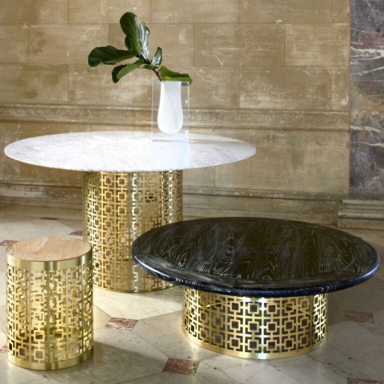 Nixon Marble and Brass Cocktail Table | Modern Furniture ...