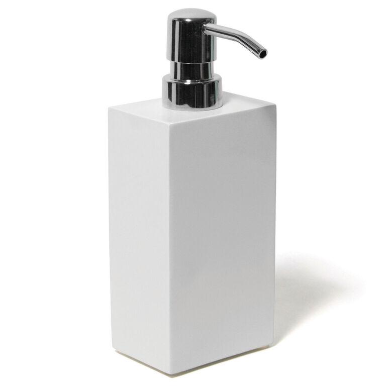 lacquer white soap dispenser bath accessories jonathan