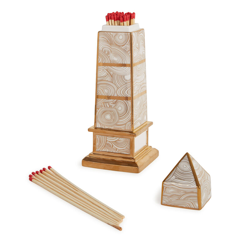 Decorative Objets - Obelisk Fireplace Match Box
