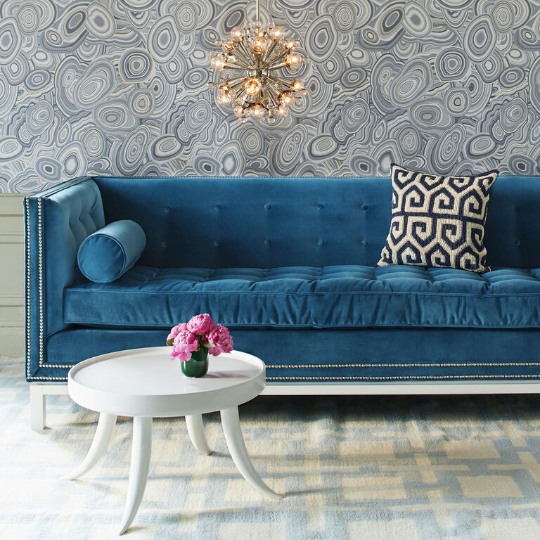 Modern Nailhead Sofa: Lampert Sofa With Nickel Nailhead Trim
