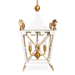 White-Hot Golds - Rider Pendant Light