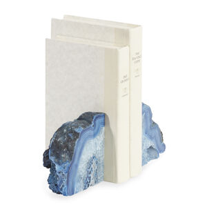Staging for New Products - Small Blue Agate Bookend Set