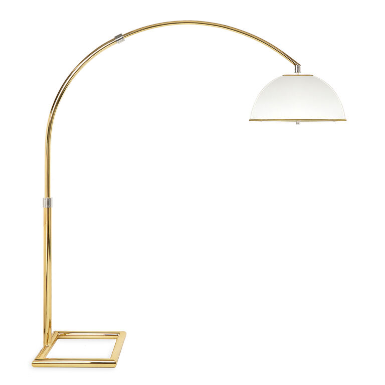 regolit floor lamp arc white black five arm brass uk lamps