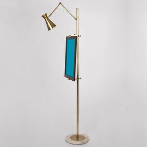 Bristol Brass Floor Easel Modern Floor Lamps Jonathan