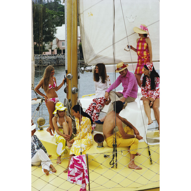 "Slim Aarons - Slim Aarons ""Colourful Crew"" Photograph"