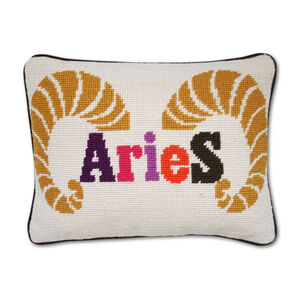 Décor & Pillows - Aries Zodiac Needlepoint Throw Pillow