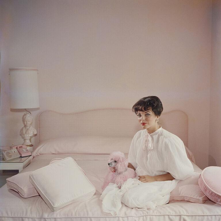 "Slim Aarons - Slim Aarons ""Pink Accessory"" Photograph"