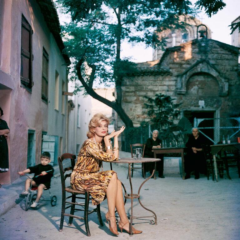 "Slim Aarons - Slim Aarons ""Melina Mercouri"" Photograph"