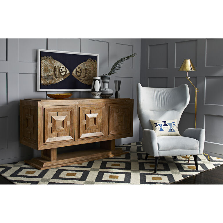 milano wing chair modern furniture jonathan adler. Black Bedroom Furniture Sets. Home Design Ideas
