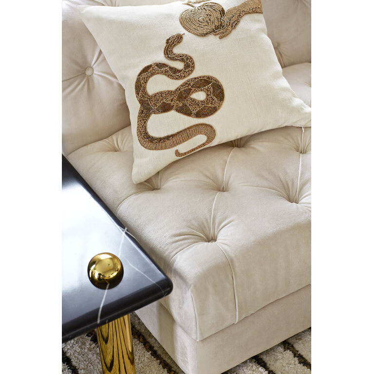 Textured & Embellished - Muse Snake & Apple Throw Pillow