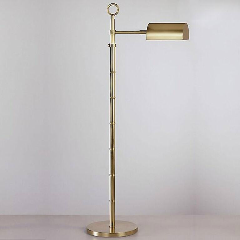 Meurice task brass floor lamp modern floor lamps for Task lighting floor lamp