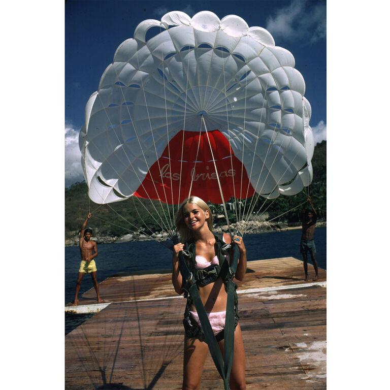 "Slim Aarons - Slim Aarons ""Paraglider"" Photograph"