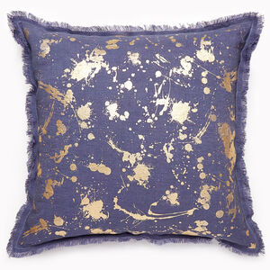 Textured & Embellished - Gilded Drip Throw Pillow