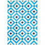 New Rugs - Navy/Light Blue Crawford Reversible Peruvian Llama Flat Weave Rug