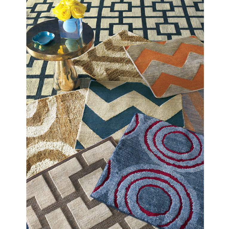 Jonathan Adler for Kravet - Jonathan Adler For Kravet Brown Bridget Area Rug