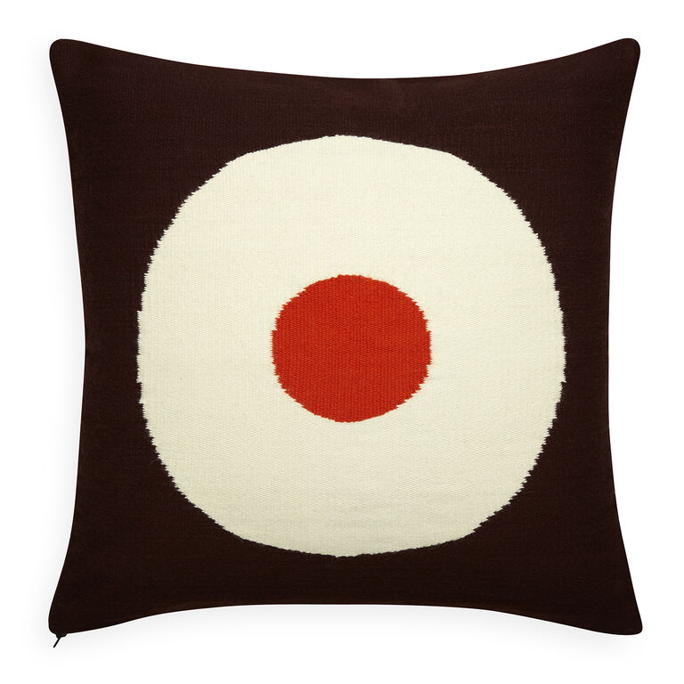 Patterned - Reversible Orange/Chocolate Lucky Strike Pop Throw Pillow