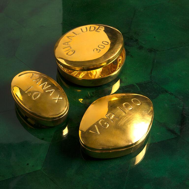 Brass Objets - Xanax Brass Pill Box