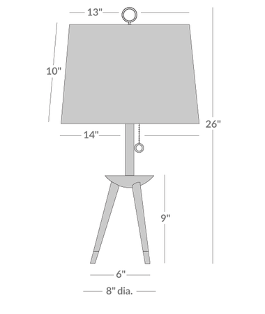 Ventana Tripod Table Lamp Isometric 1