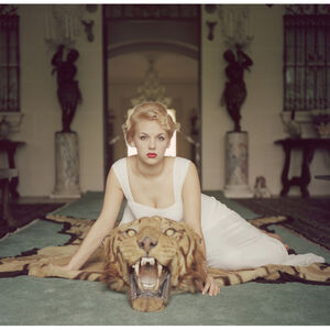 "Slim Aarons - Slim Aarons ""Beauty and The Beast"" Photograph"