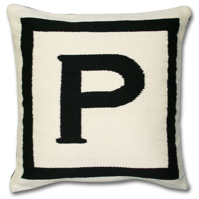 Letter T Throw Pillow : Reversible Letter P Throw Pillow 16 x 16 Jonathan Adler