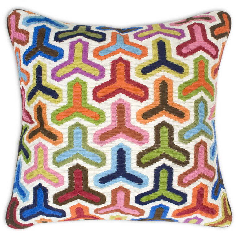 Holding Category for Inventory - Multi Hazard Bargello Throw Pillow