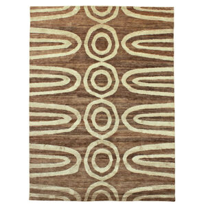 Jonathan Adler for Kravet - Jonathan Adler For Kravet Brown Vertebrae Area Rug