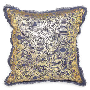 Textured & Embellished - Gilded Malachite Throw Pillow
