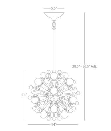 Mini Sputnik Chandelier Isometric 1