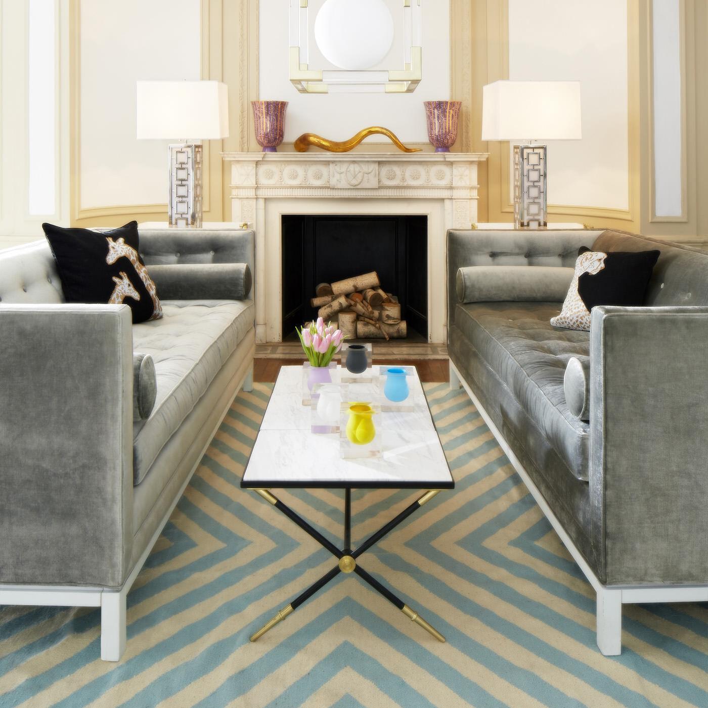 Rider White Cocktail Table Modern Furniture Jonathan Adler
