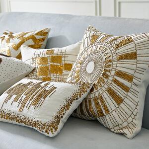 Textured & Embellished - Talitha Sunburst Throw Pillow