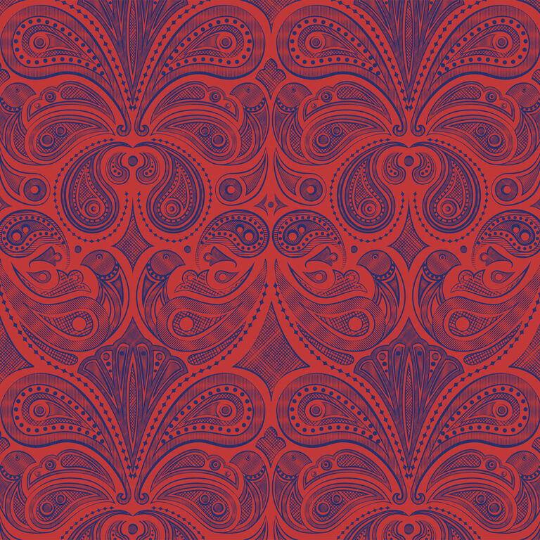 Wallpaper - Bird Paisley Wallpaper