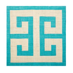 Table Linens - Greek Key Raffia Placemat