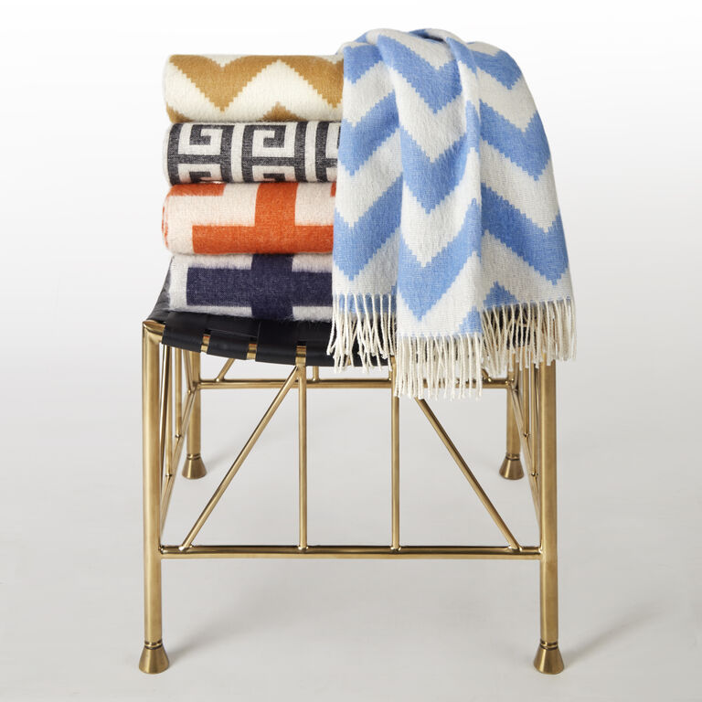 Throws - Zig Zag Baby Alpaca Throw
