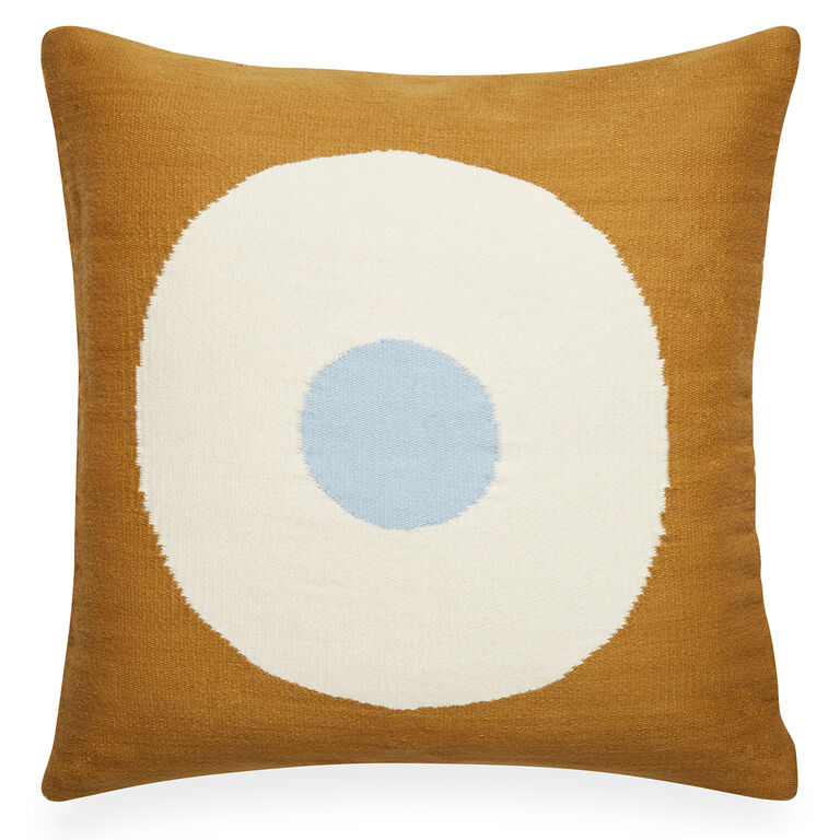 Light Blue Patterned Throw Pillow : Reversible Lucky Strike Pop Light Blue Throw Pillow 22 x 22 Jonathan Adler