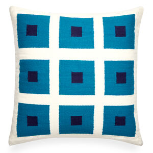Patterned - Reversible Turquoise Peter Pop Throw Pillow