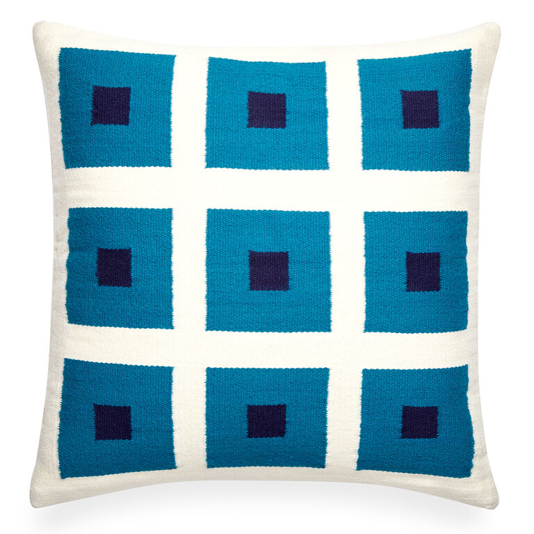 Holding Category for Inventory - Reversible Turquoise Peter Pop Throw Pillow