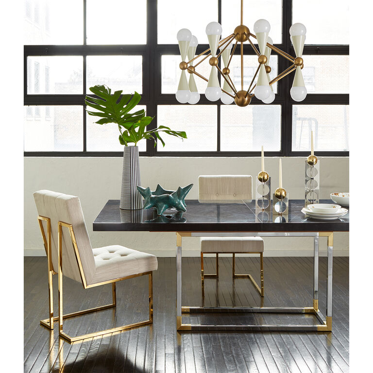 The Adler Extendable Table From Iq Furniture: Goldfinger Dining Chair