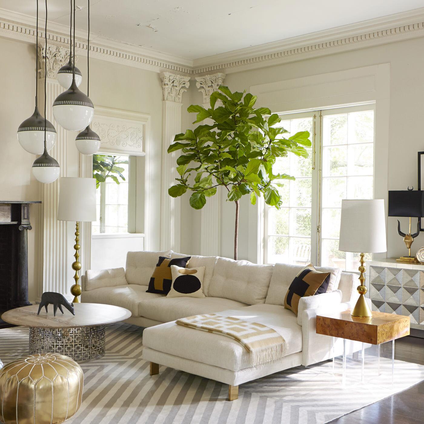Harlequin Brass Floor Lamp | Modern Floor Lamps | Jonathan Adler