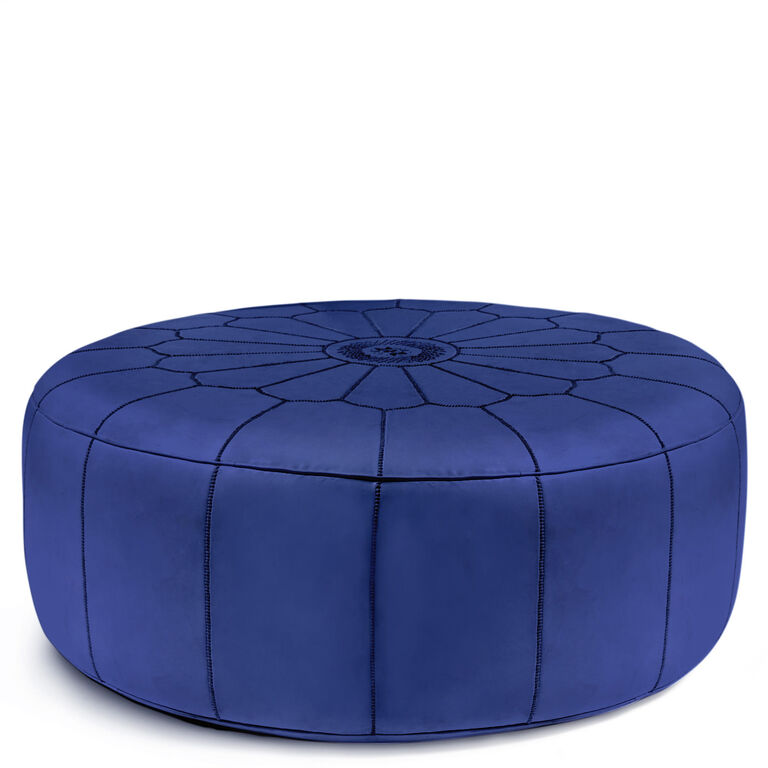 Benches & Ottomans - Giant Leather Moroccan Pouf