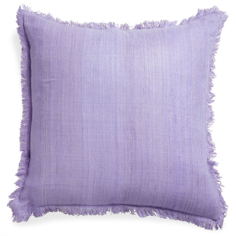 Solid - Solid Silk Frayed Edge Throw Pillow