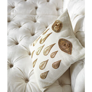Textured & Embellished - Muse Tears Throw Pillow