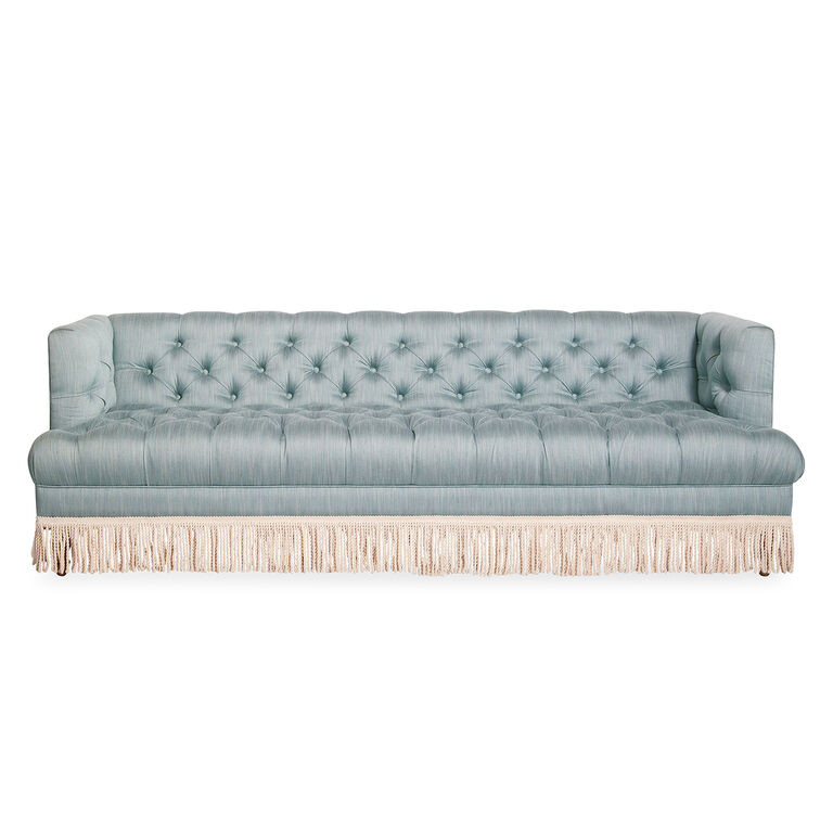 Jonathan Adler | Baxter T-Arm Sofa with Bullion Fringe