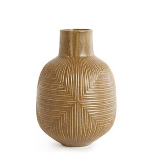 Pottery - Diamond Relief Vase