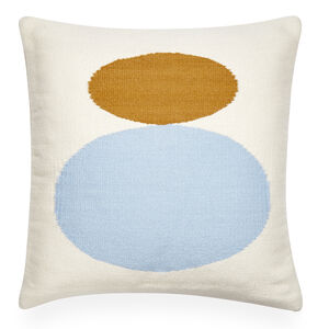 Patterned - Reversible Light Blue Mother/Child Pop Throw Pillow
