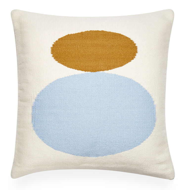 Light Blue Patterned Throw Pillow : Reversible Mother/Child Pop Light Blue Throw Pillow 22 x 22 Jonathan Adler