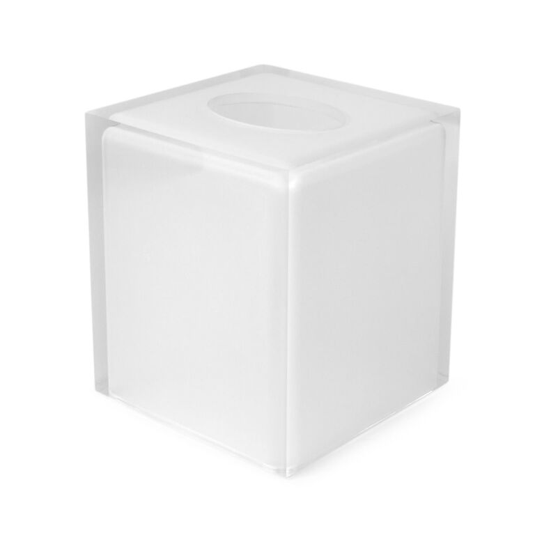 Bath Accessories - White Hollywood Tissue Box