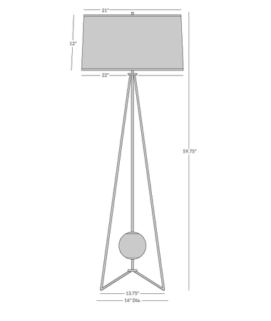 Ojai Floor Lamp Isometric 1